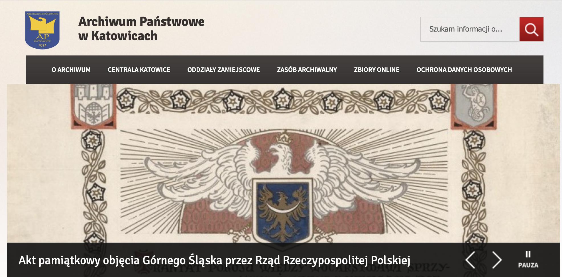 Archiv Katowice v Polsku