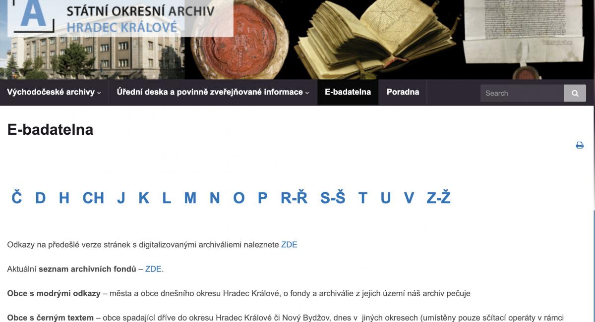 Státní okresní archiv Hradec Králové