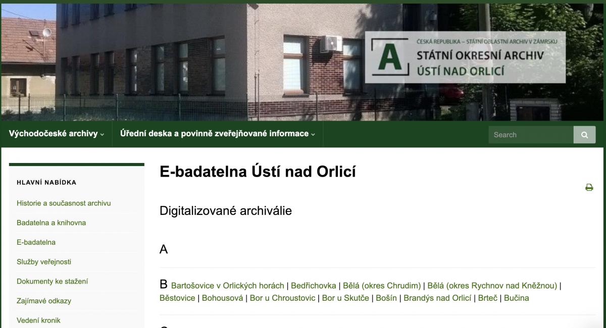 Státní okresní archiv Ústí nad Orlicí